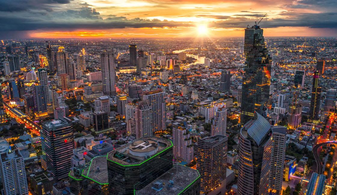 aerial bankgkok view