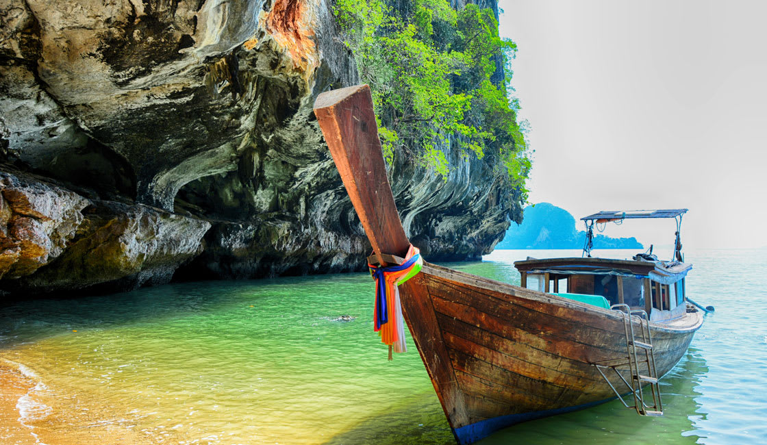 traditional boat at the beach