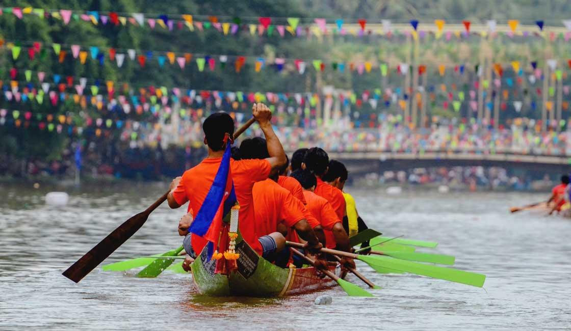 Rowing boat race