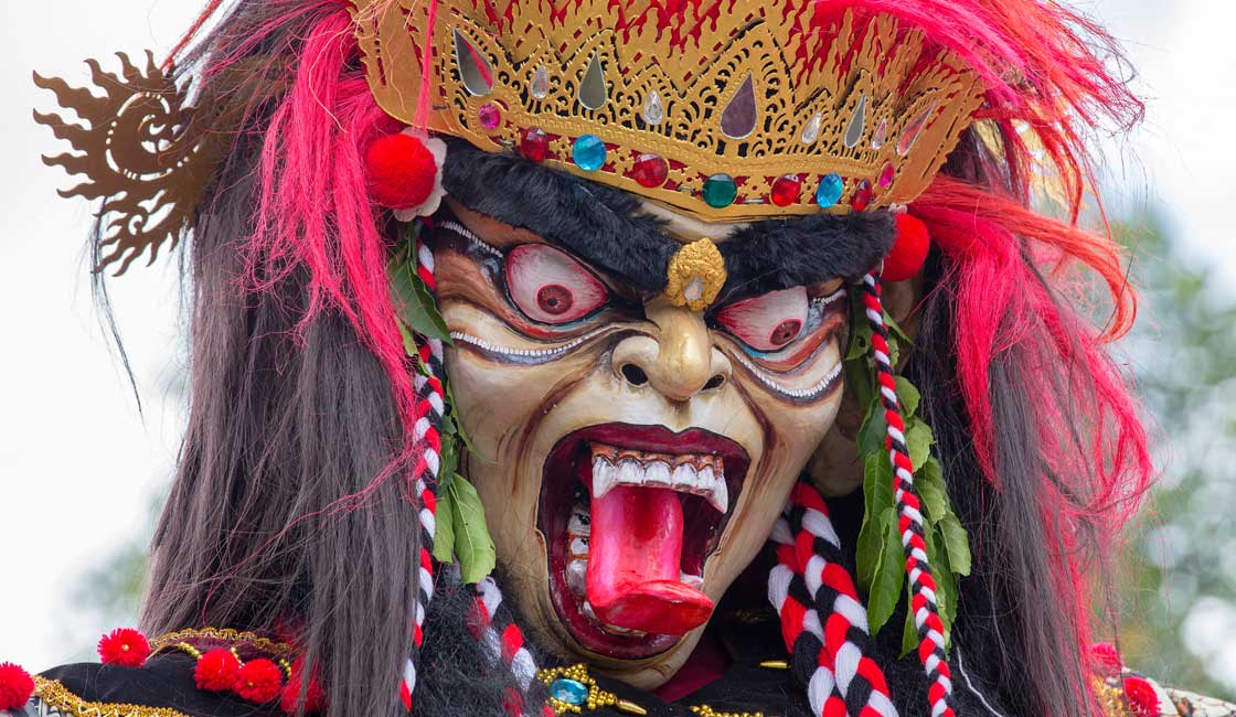 Colorful and scary mask