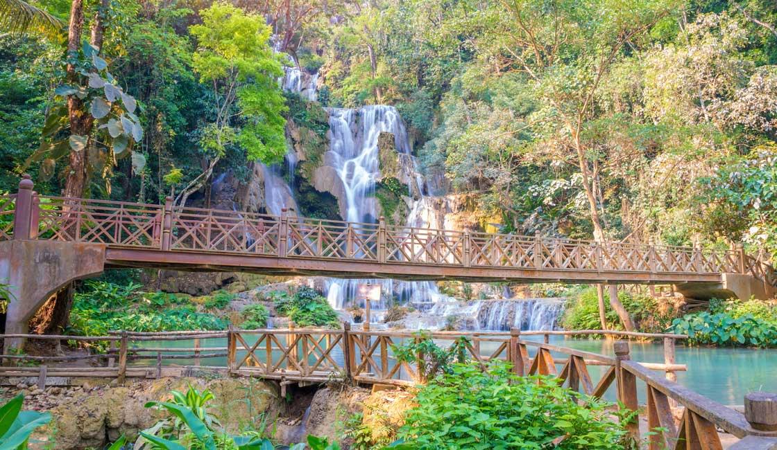 Bridge by the falls