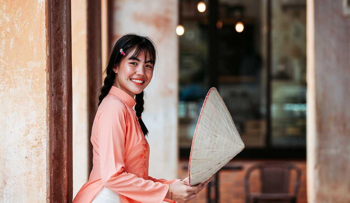 Vietnamese girl smiling