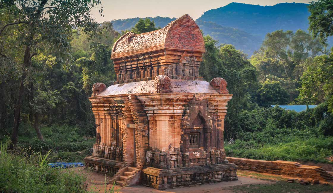 Reconstructed brick temple