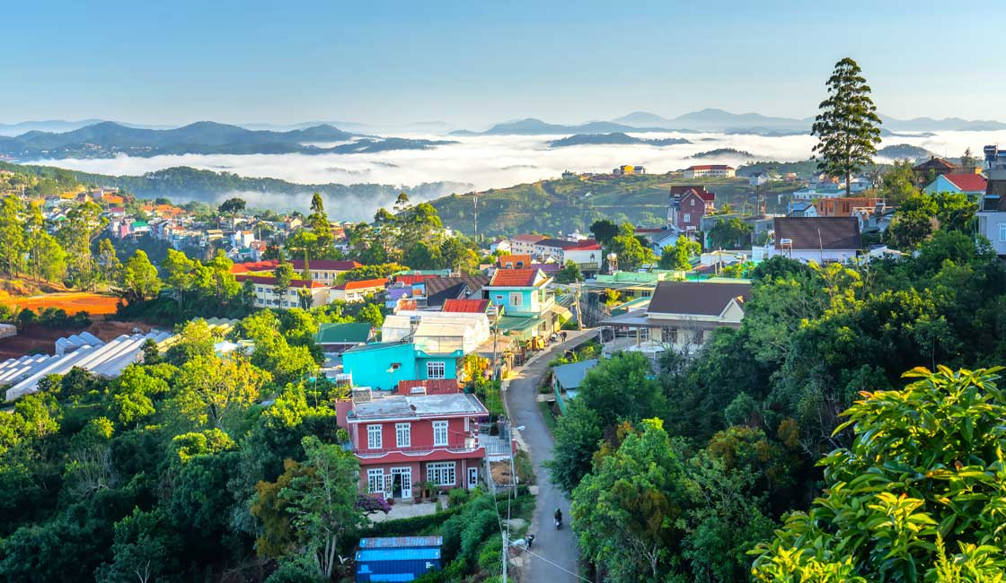 Dalat town from above