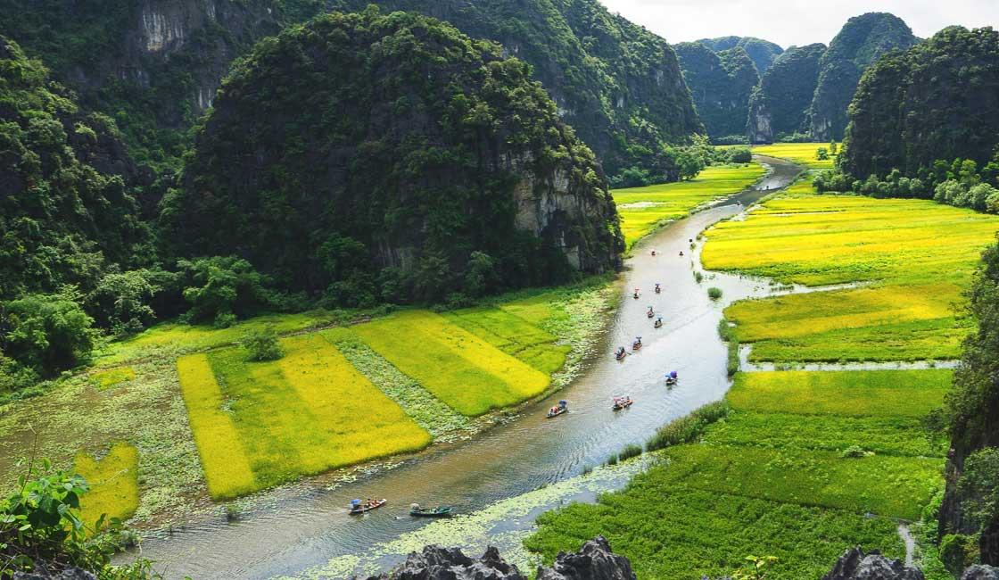 Narrow river between hills