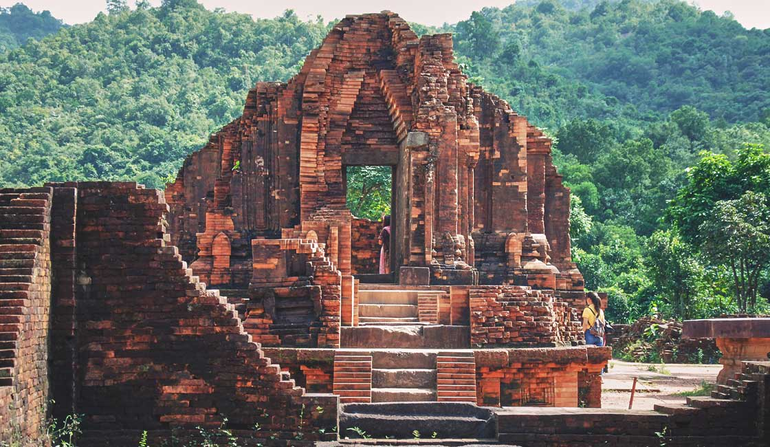 Ruins of a brick temple