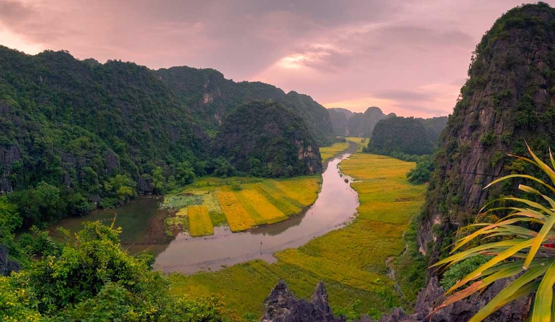 Narrow river among the hills