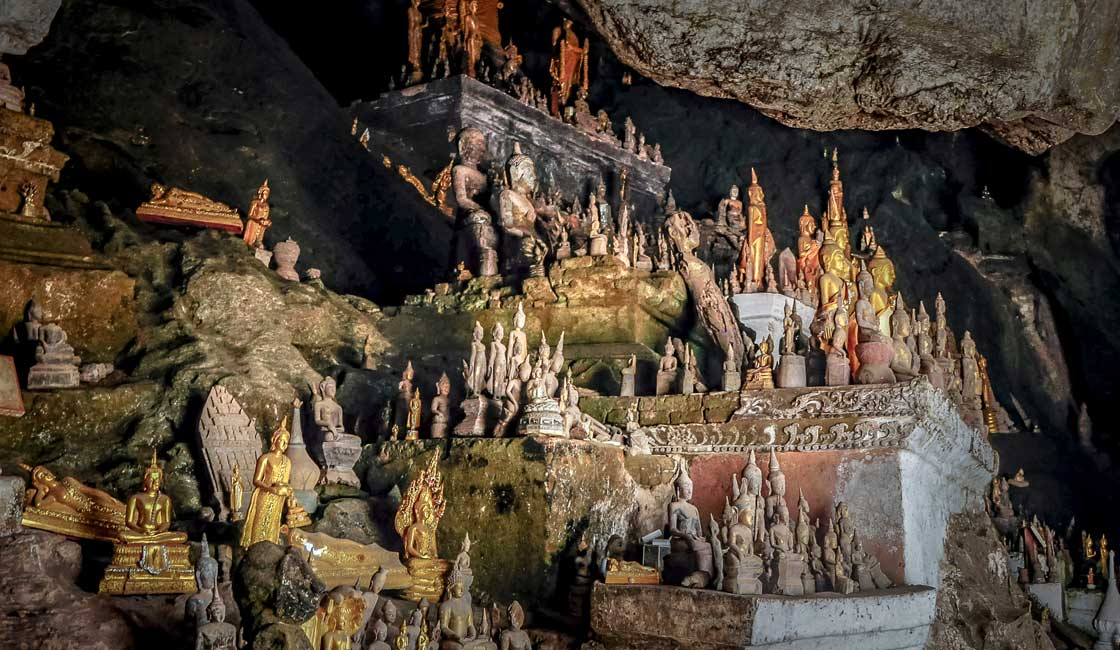 Countless Buddha Statues inside a cave