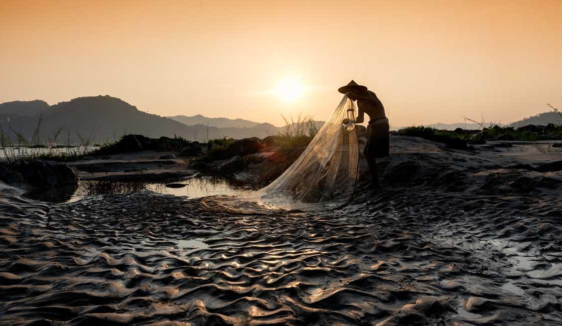 Fisherman at the Mekong