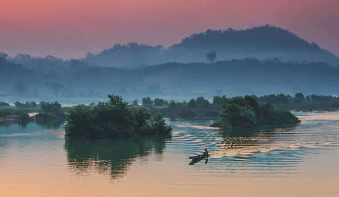 Sunrise on the Mekong