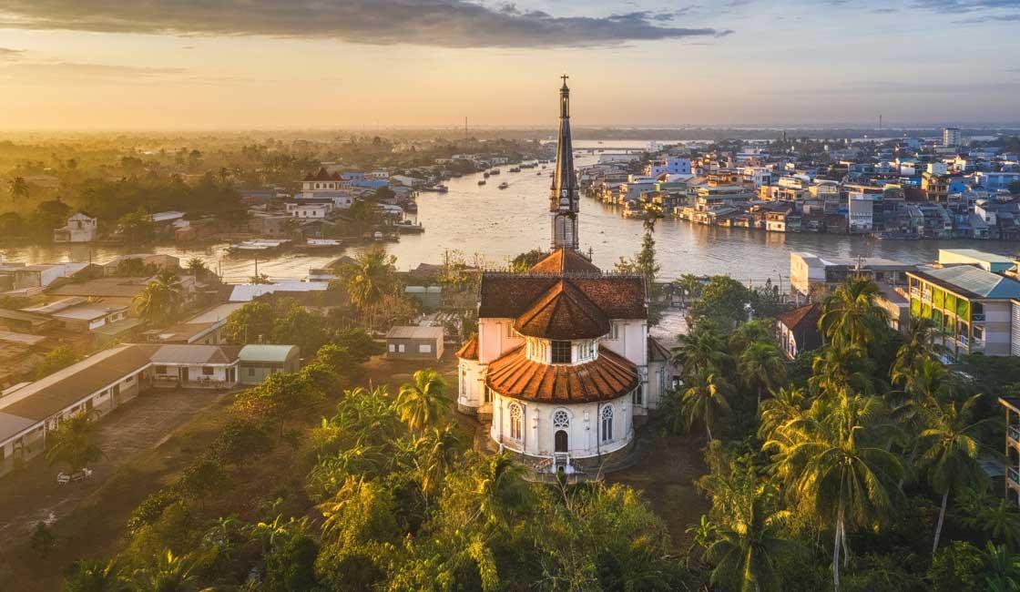 Mekong in the Vietnamese town