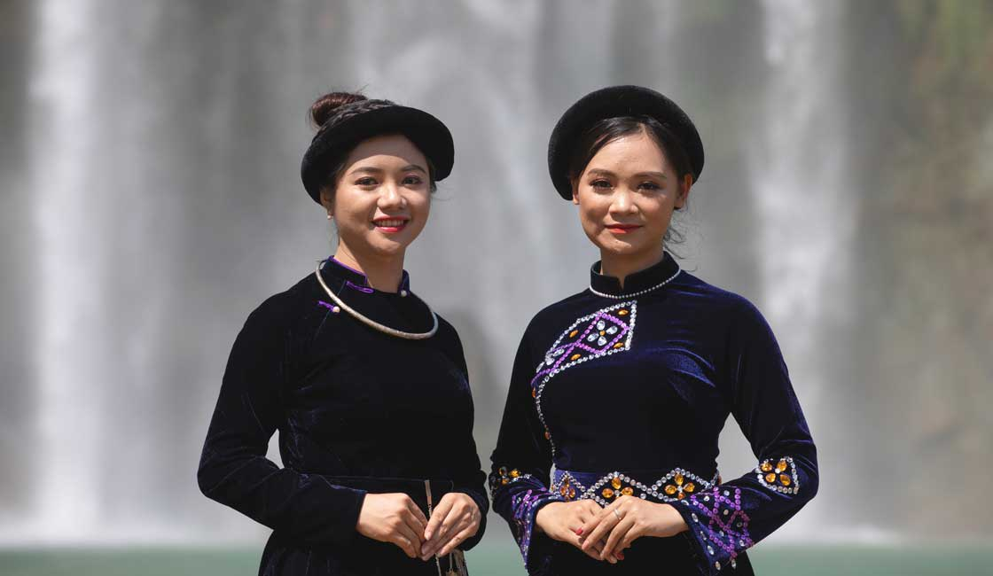 Two traditionally dressed women