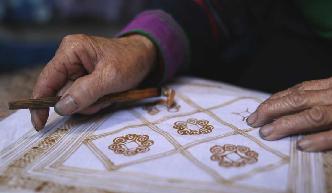 Traditional textile painting