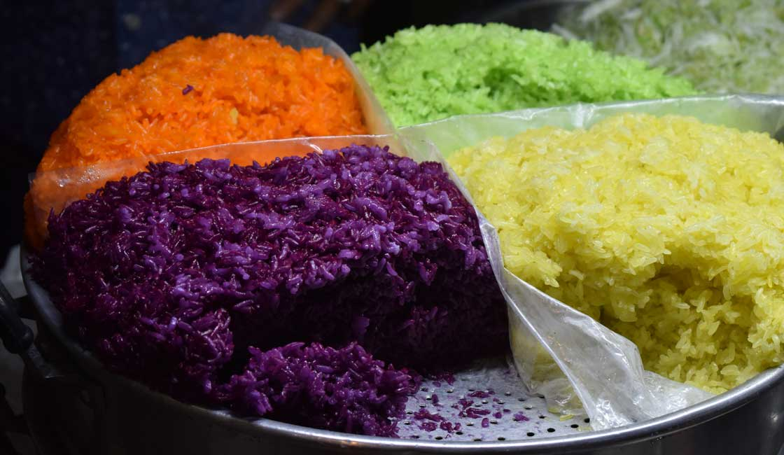 Rice in 4 colours