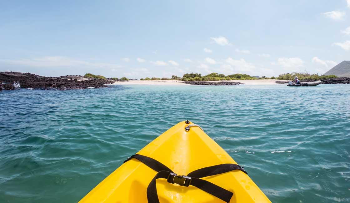 Yellow sea kayak