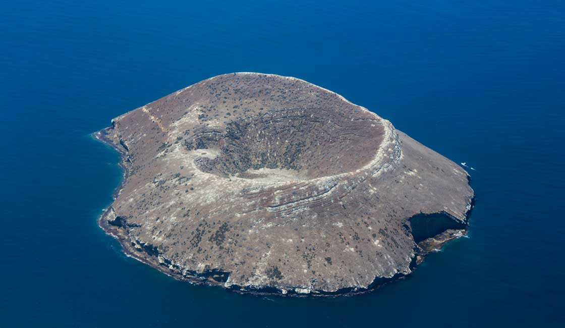 Small island aerial view
