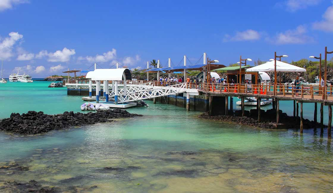 Pier in Galapagos town