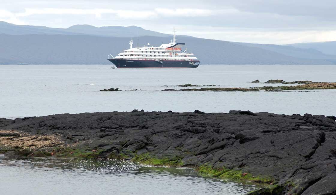 Cruise ship in Galapagos