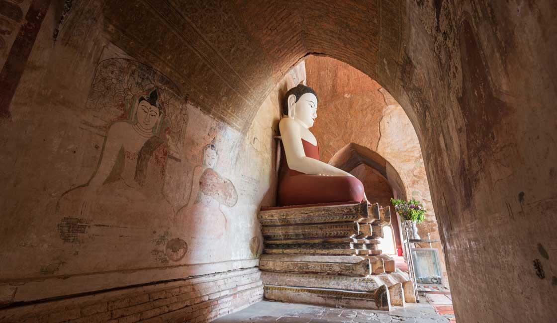 Buddha statue inside the temple