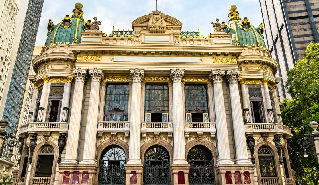 Beautiful facade of the theatre