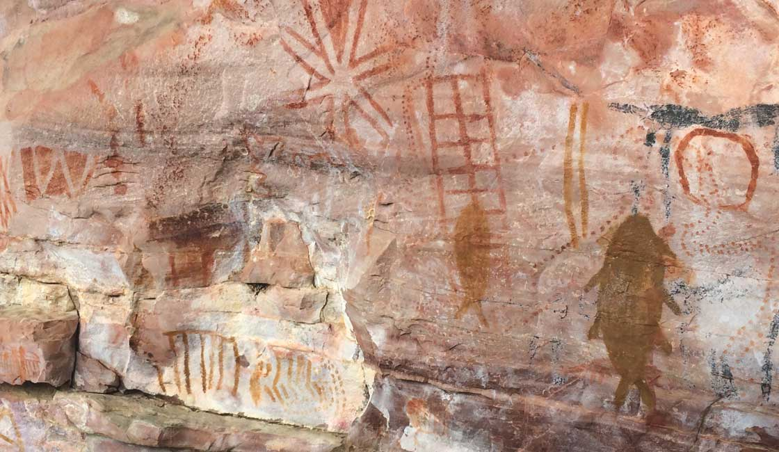 Cave in Lapa wall paintings