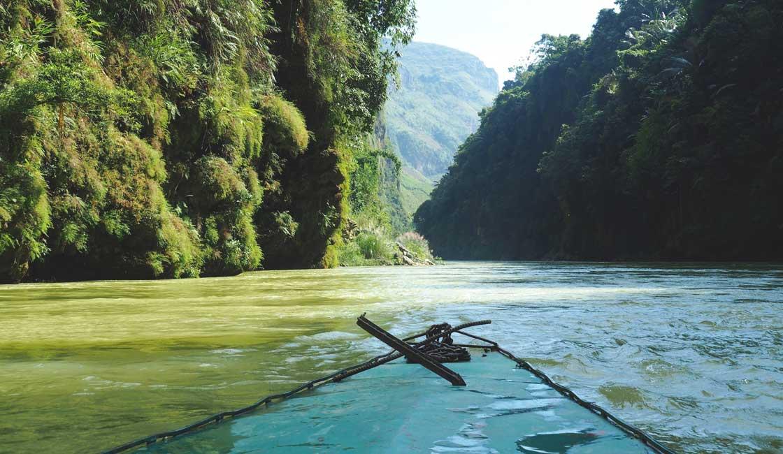 Sampan on the river