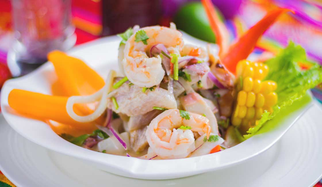 Ceviche with shrimps