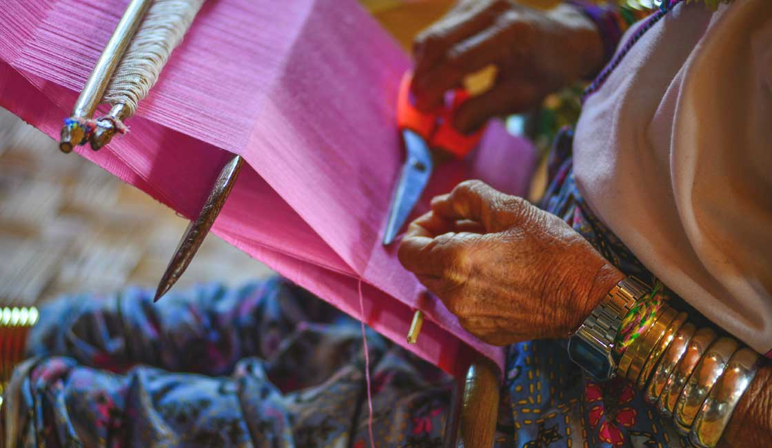 Weaving in traditional tribes