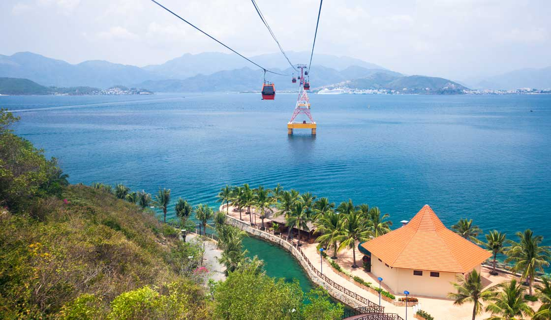 Cable car over the sea
