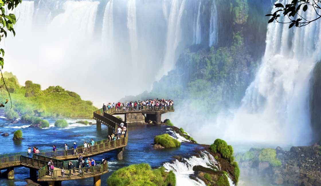 Observation platform of the Iguazu Fallls
