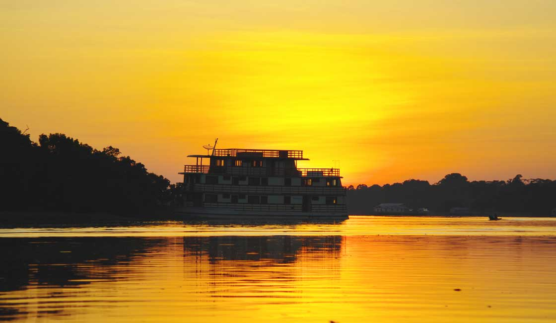Passengers' ship on the Amazon River