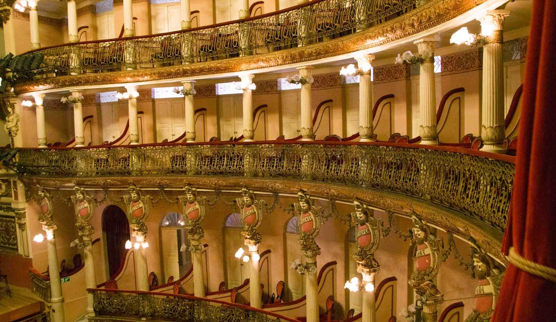 Interior of a beautiful opera