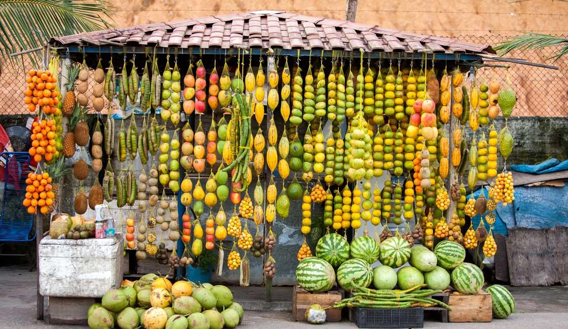 Fruit stall in Manaus