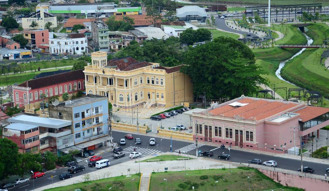 Colonial buildings in Manaus city