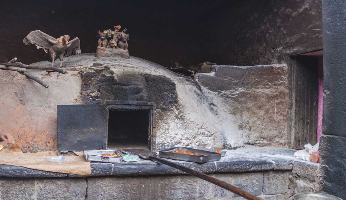 Traditional clay oven