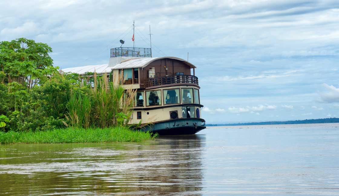 Passenger boat on the river