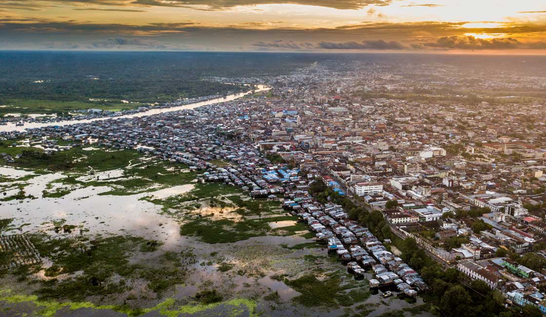 Aerial view of Iquitos