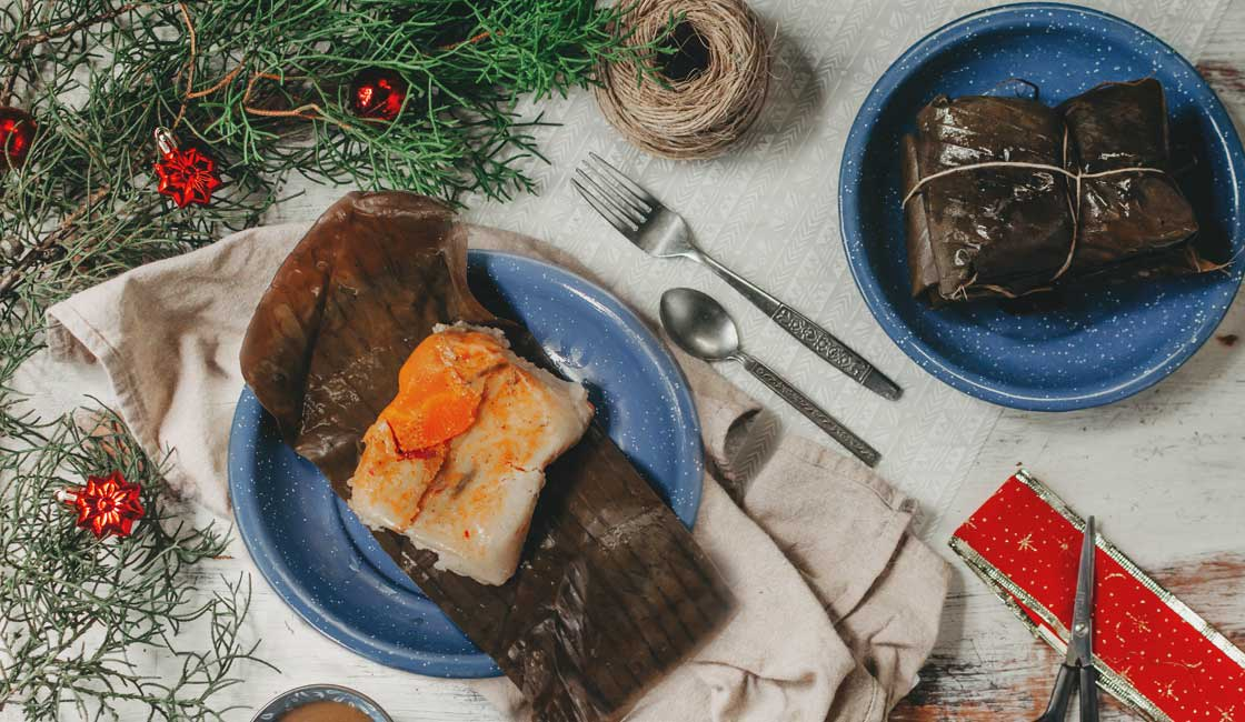 Traditional Food with Christmas decoration