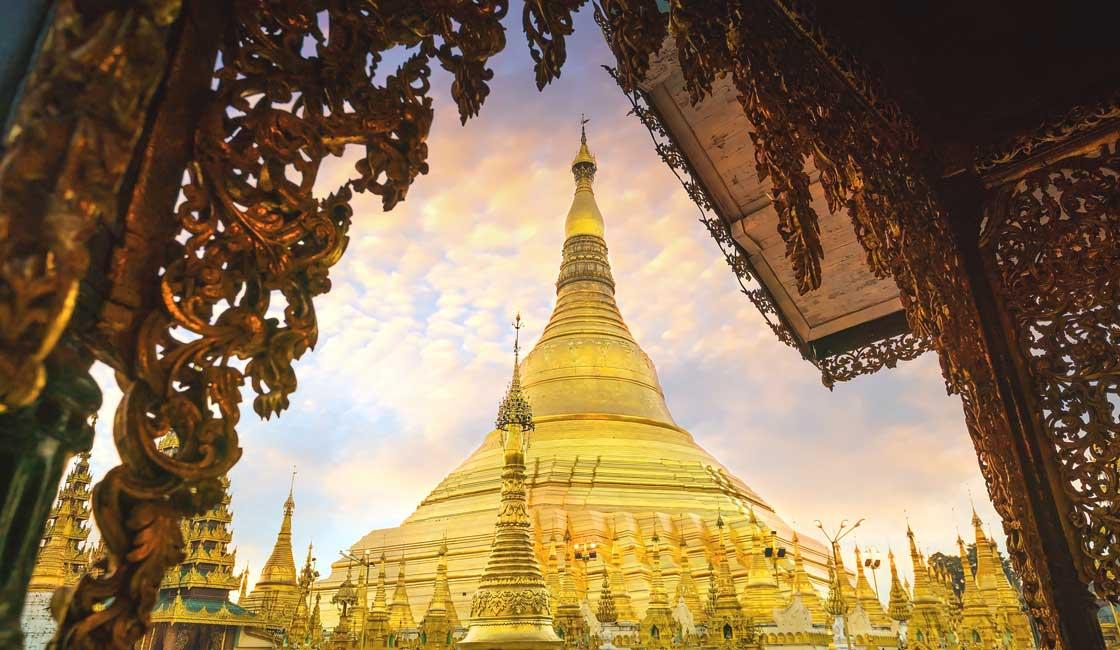Large golden stupa