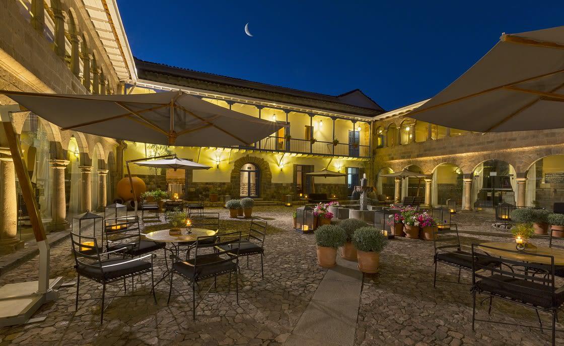 Main Courtyard Of Palacio Del Inka Hotel In Cusco City