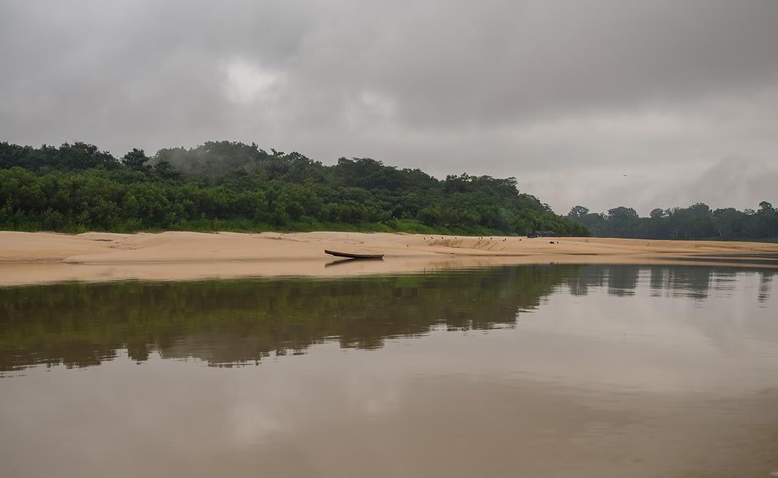 Sandy Amazon Beach During The Low Water Season