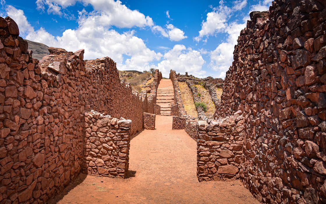 Ancient Walls And Buildings Dating Back To The Wari Culture