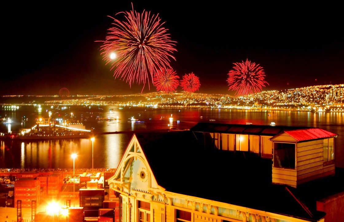 New Year's Celebration In Valparaiso