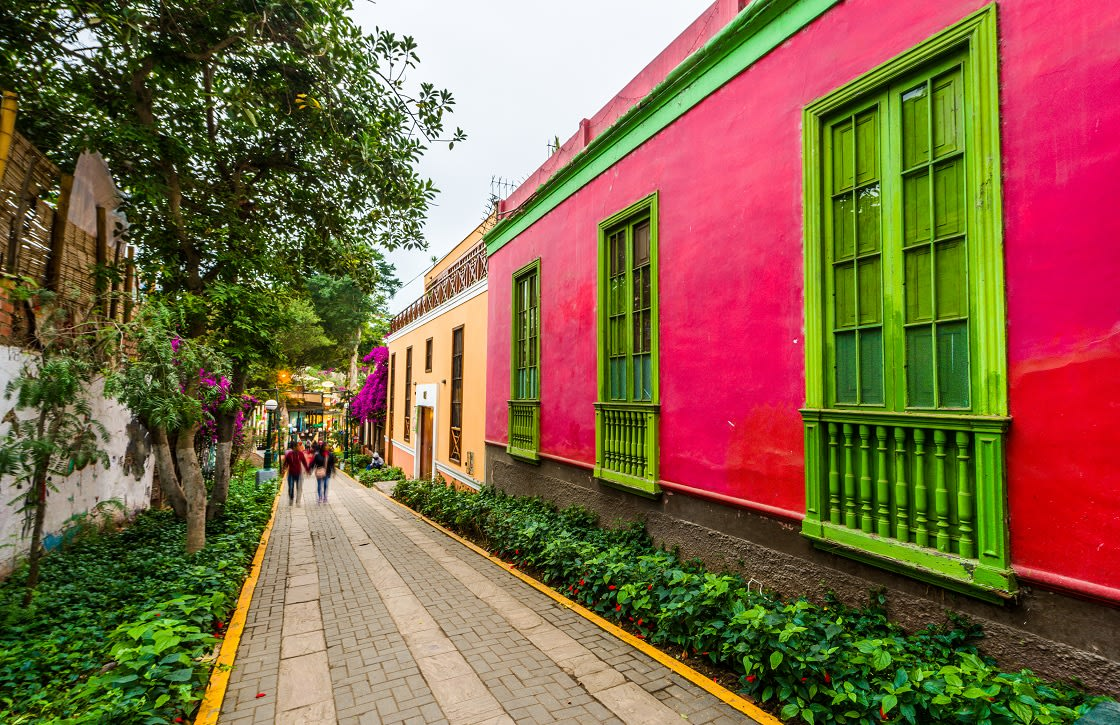 Old Town Of Barranco District In Lima, Peru