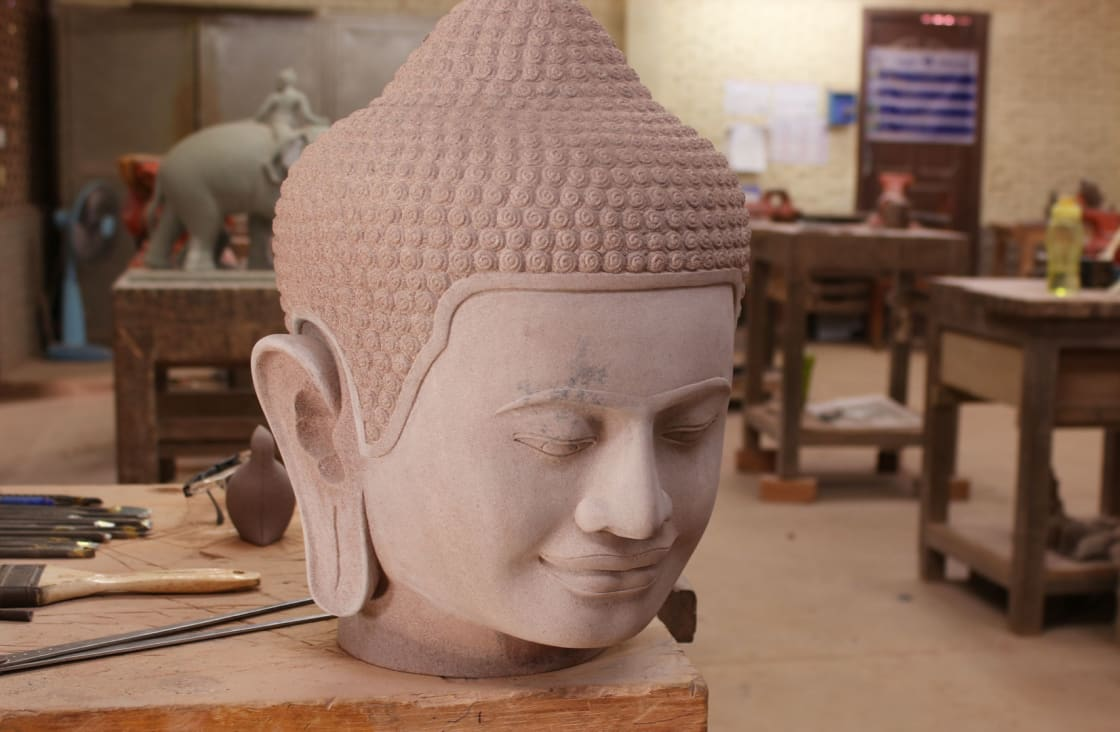 stone work at an artisan shop