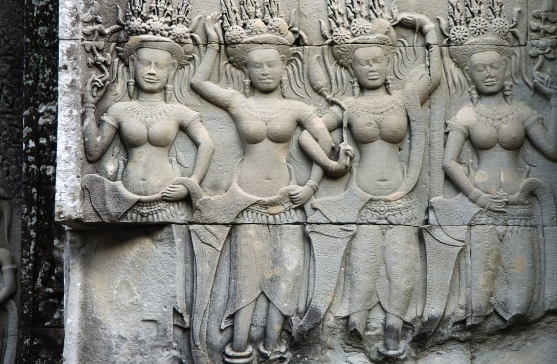 nymphs at some temple