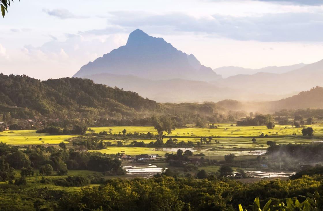 beautiful landscape in laos