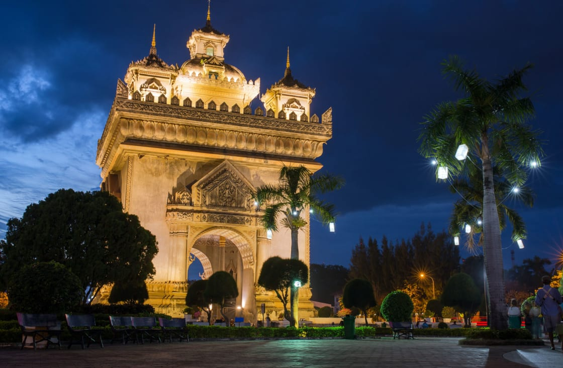 Patuxai monument similar to Arch of Triumph
