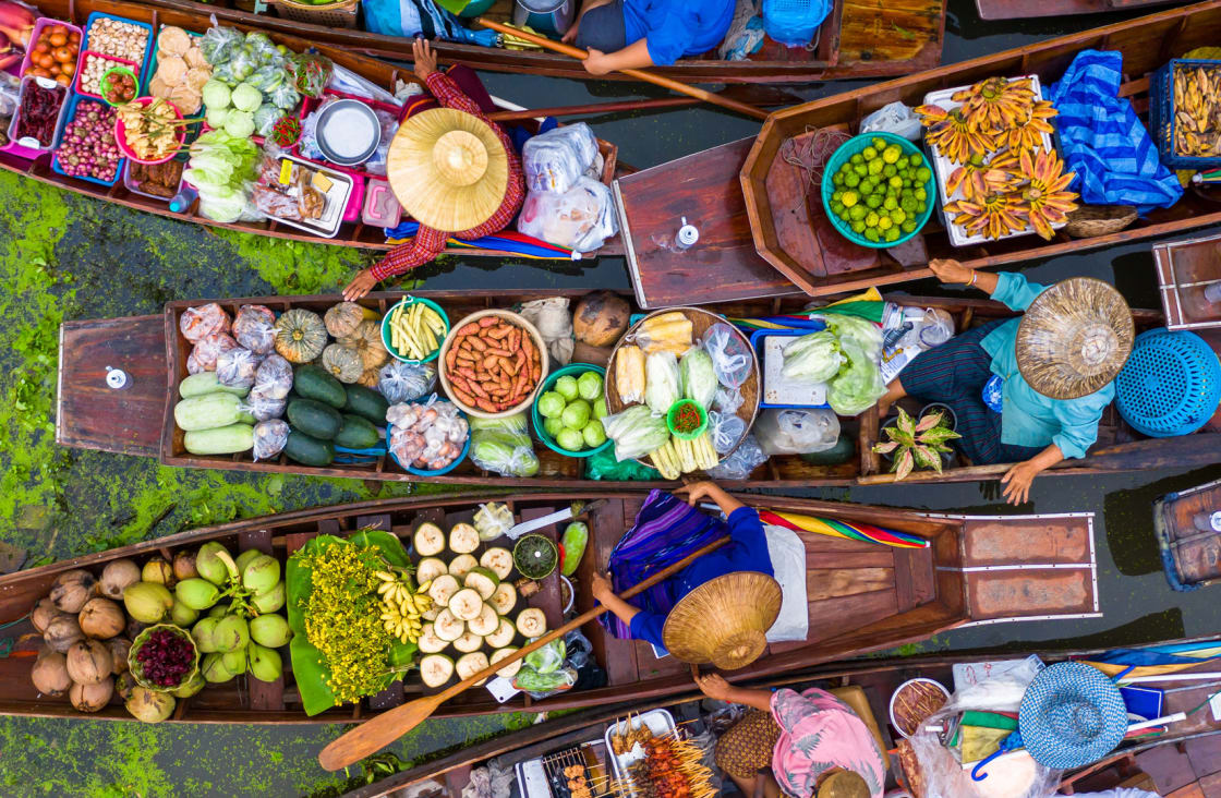 colorful market in thailand