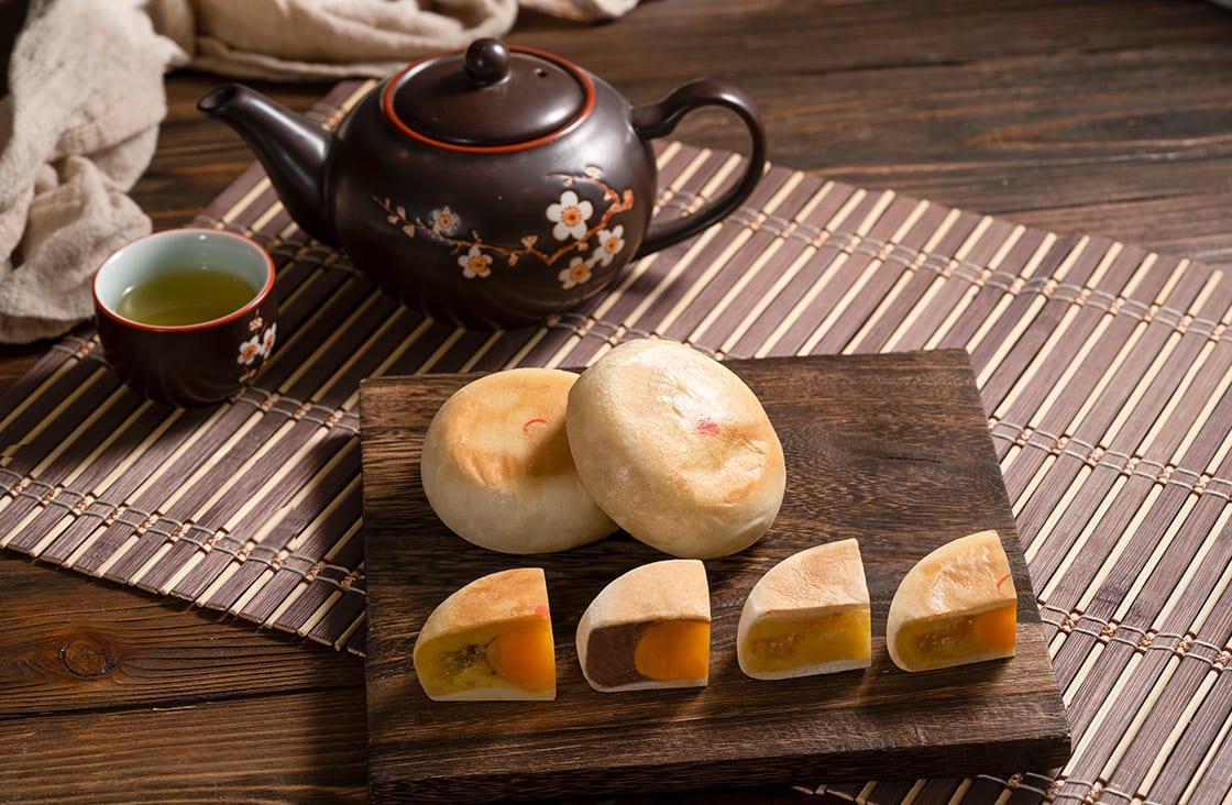 Banh Pia is a moon-shaped sweetcake